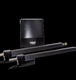 USAutomatic Ranger HD Dual Swing Gate Kit - Solar - Metal Cabinet - w/LCR