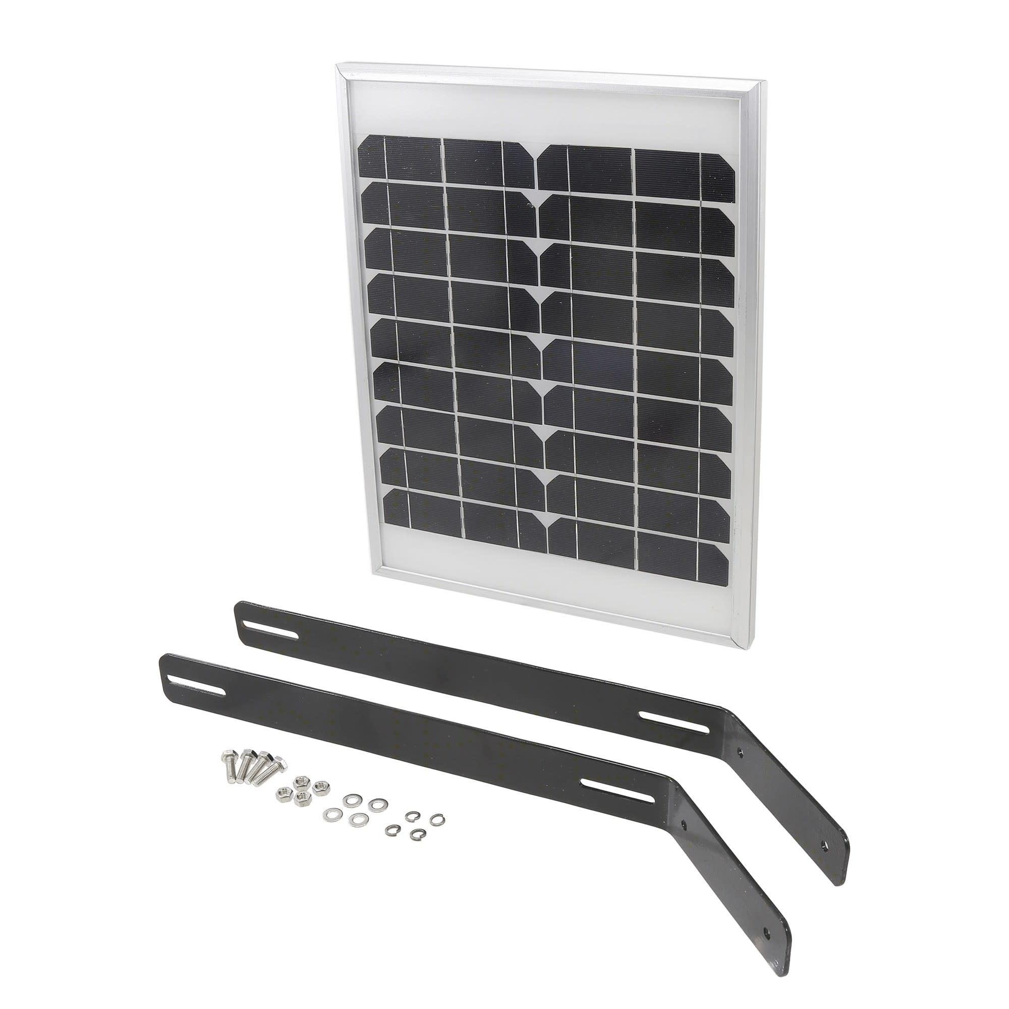 USAutomatic 20 watt Solar Panel Kit (with 15 feet cable, Dual Bracket & Plug)