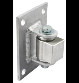 "D&D Technologies Aluminum Half Bolt-on BadAss for 4"" Fence Posts - Sold Each"