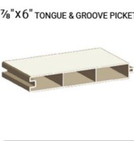 """VEKA 7/8"""" X 6"""" TONGUE & GROVE PICKET (0.060 WALL)"""