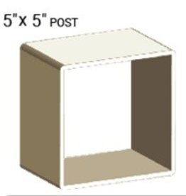 "NATIONAL VINYL PRODUCTS 5"" X 5"" VINYL POST PROFILE (0.150"" WALL)"