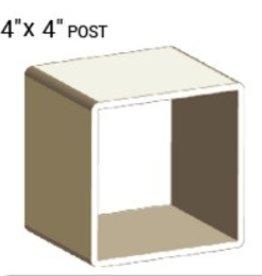 "VEKA 4"" X 4"" VINYL POST PROFILE (0.140"" WALL)"