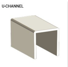 "NATIONAL VINYL PRODUCTS 1"" VINYL U-CHANNEL PROFILE"