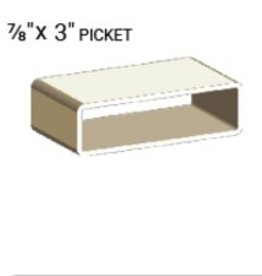 "NATIONAL VINYL PRODUCTS 7/8"" X 3"" VINYL PICKET PROFILE (0.080"" WALL)"
