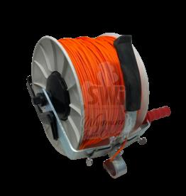 "SWI 3:1 Geared Reel W/1500' of 1/8"" Polyester Rope Neon Orange"