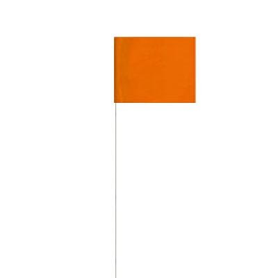 "PRESCO 4"" X 5"" - 21"" TALL WIRE MARKING FLAG (100-PACK)"