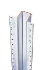 "MASTER HALCO 3 1/2"" X 1 3/4"" POSTMASTER STEEL POST  FOR CEDAR FENCES"