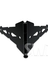 """NATIONAL VINYL PRODUCTS 8"""" DOUBLE STRAP HINGE - CONTEMPORARY BLACK"""