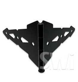 "NATIONAL VINYL PRODUCTS 8"" DOUBLE STRAP HINGE - CONTEMPORARY BLACK"