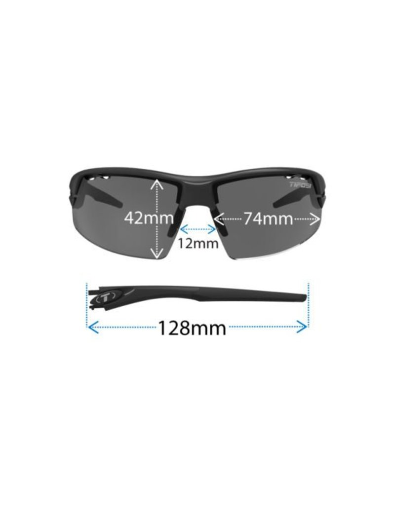 TIFOSI OPTICS Crit, Matte Black Interchangeable Sunglasses