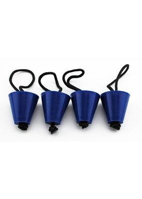 YAKGEAR Yak Gear Universal Scupper Plug Kit, Blue