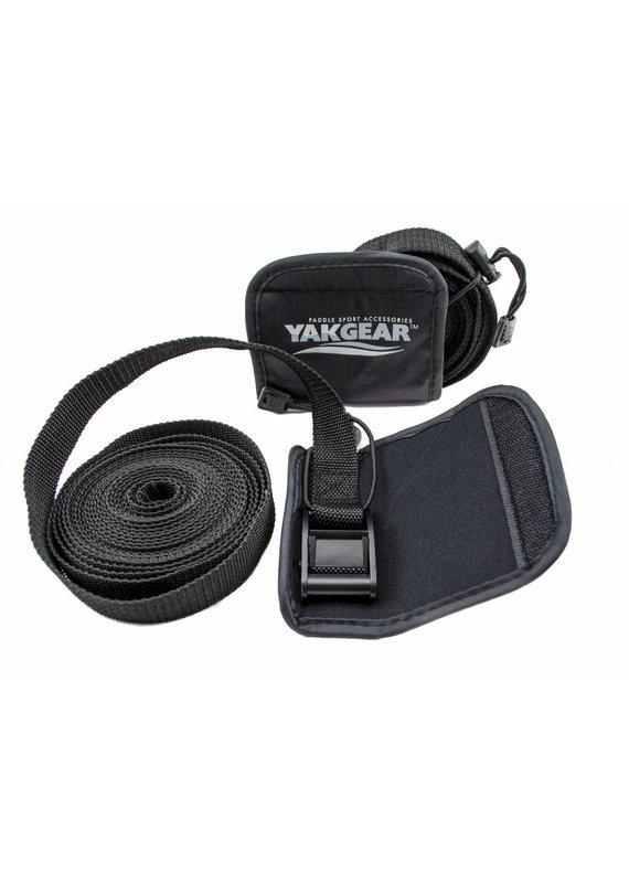 YAKGEAR YakGear TDSTP1 Kayak Tie Down Straps Nylon Black 15ft Pack of 2