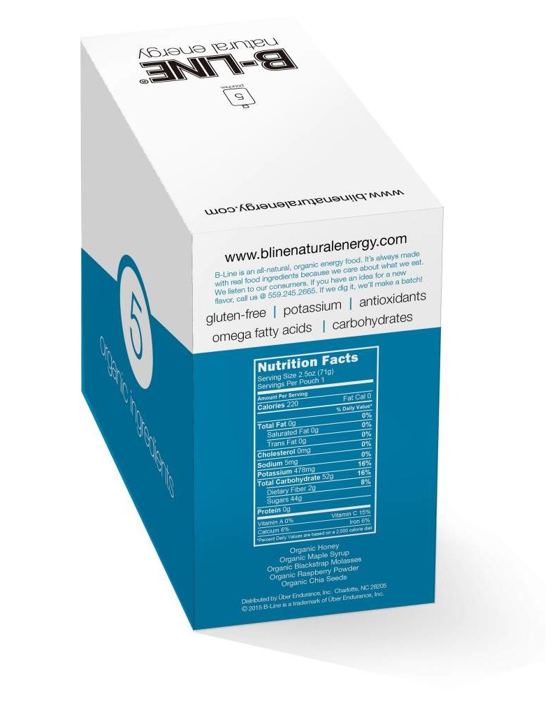 B-Line Natural Energy B-Line Blue Box of 5 Raspberry + Molasses
