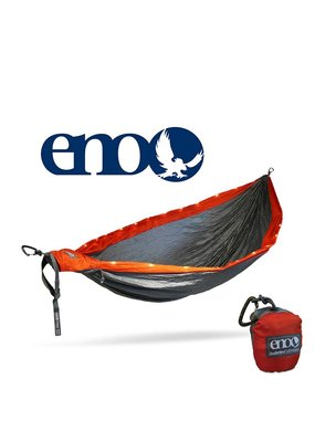 ENO ENO Doublenest LED Hammock Orange/Grey