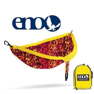 ENO ENO Double Nest Print Hammock Geo/Red