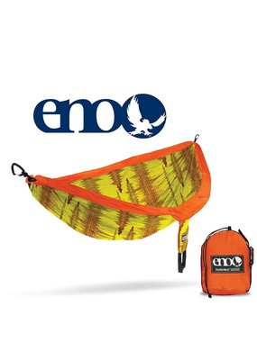 ENO ENO Double Nest Print Hammock Soundwave/Yellow