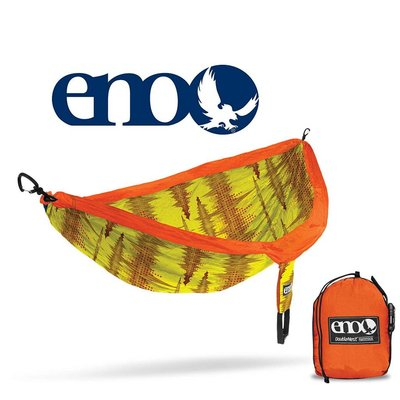 ENO ENO Double Nest Print Hammock Soundwave/Yellow