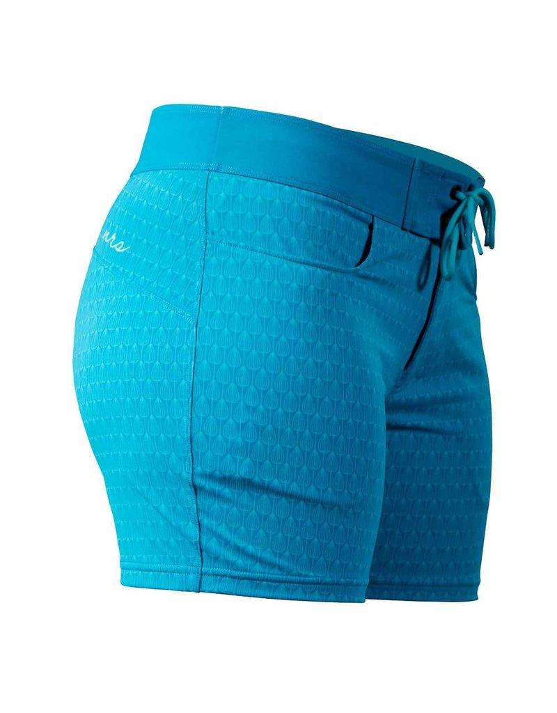 NRS Women's Beda Board Shorts Azure Blue Peacock Size 12