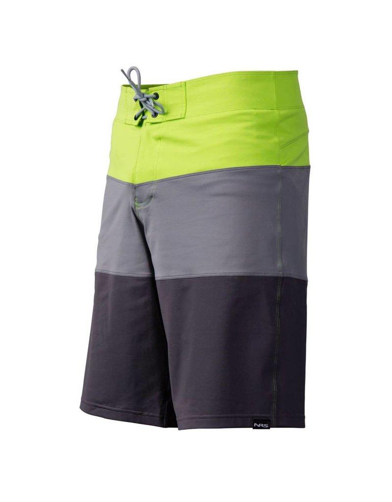 NRS Men's Benny Board Shorts Blue/Green Size 34