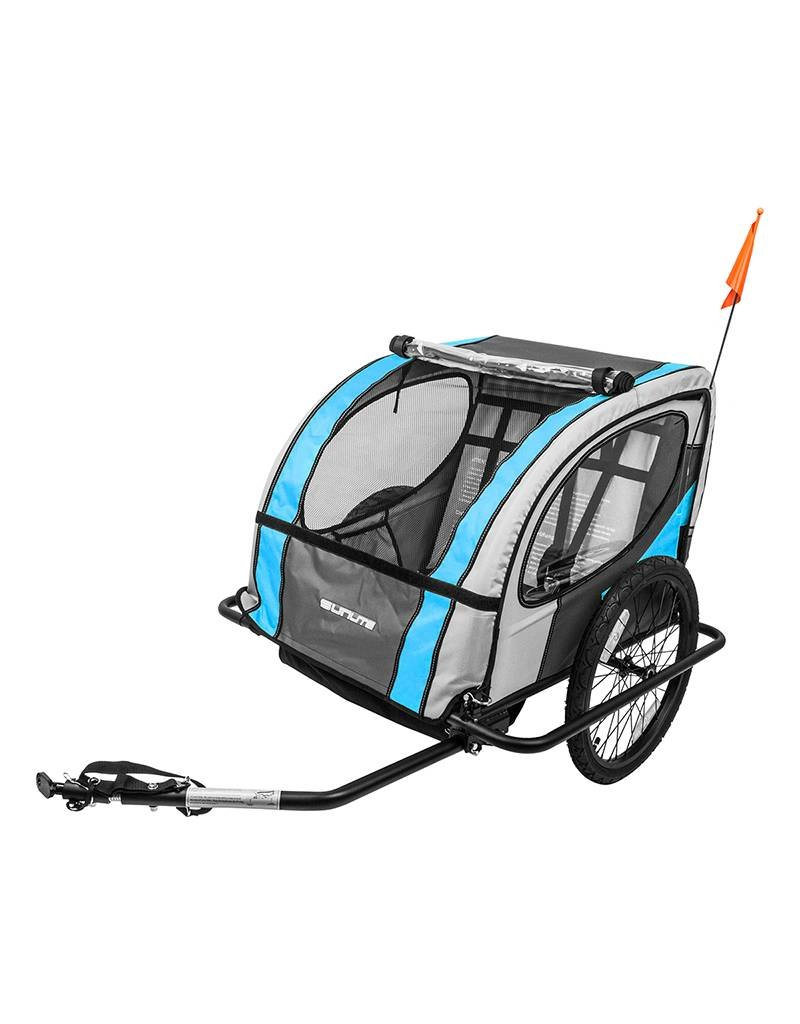 SUNLITE Toddler Bicycle Trailer TRAILER SUNLT STL 20in Blue/Grey