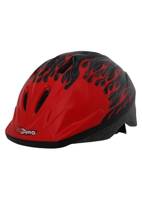 KIDZAMO KIDZAMO Bike Helmet SM-MD Flame Red/Black