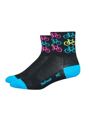 DeFeet DeFeet Aireator Cool Bikes Sock: Black Large