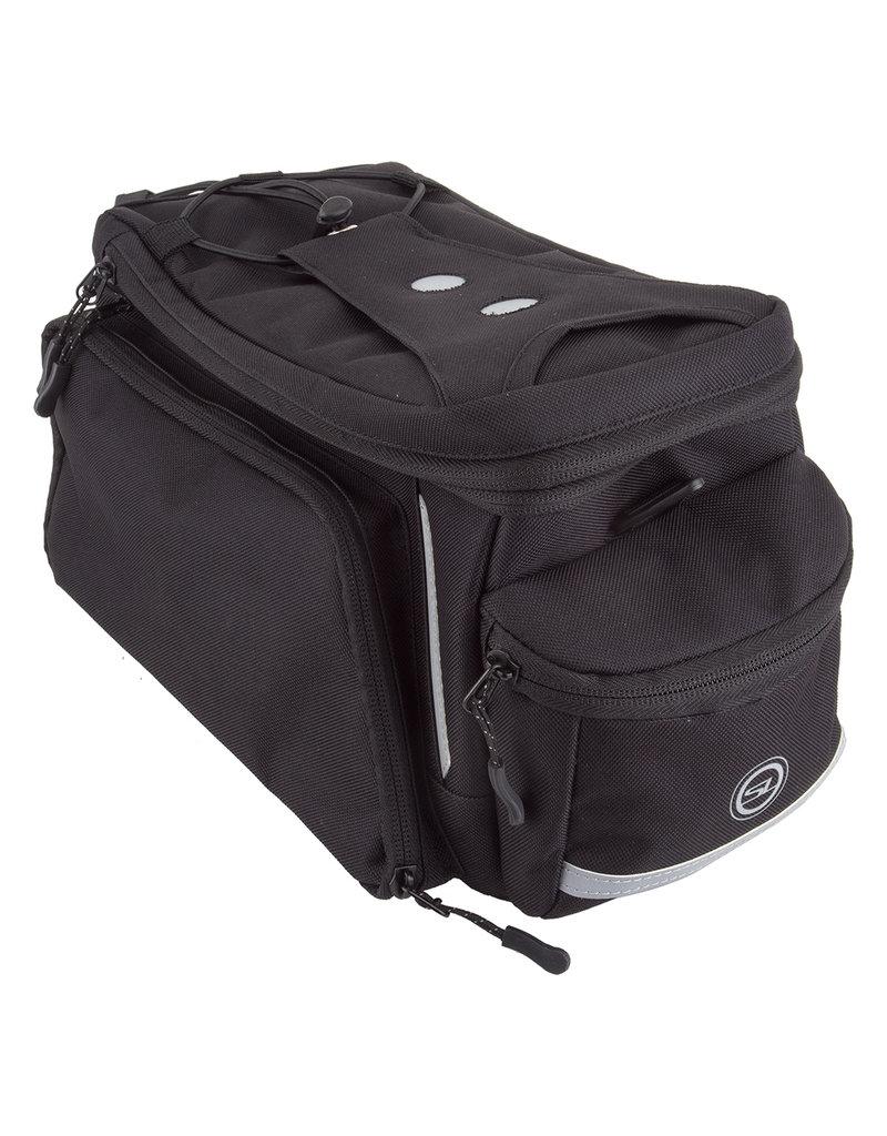 SUNLITE Sunlite Rackpack w/Side Pockets, Medium Black