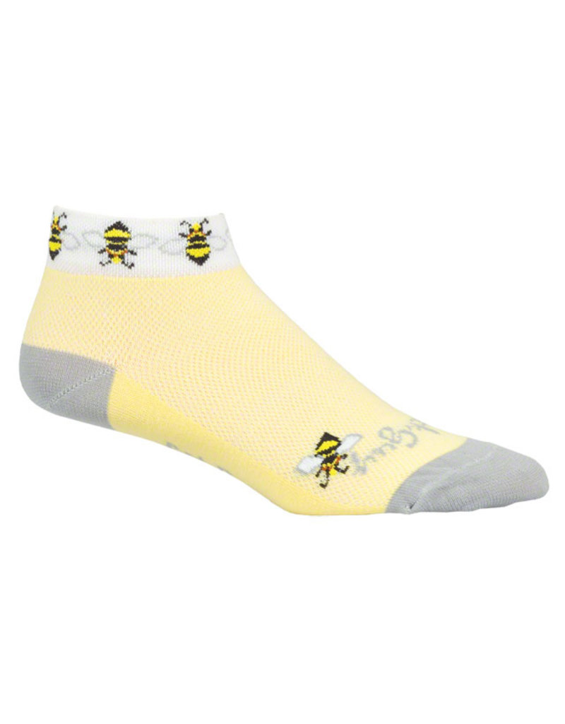 SockGuy SockGuy Classic Bees Women's Sock: Yellow SM/MD