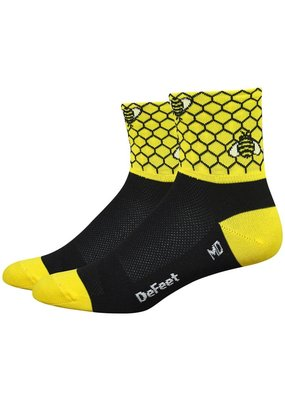 "DeFeet DeFeet Aireater 3"" Bee Aware Socks"