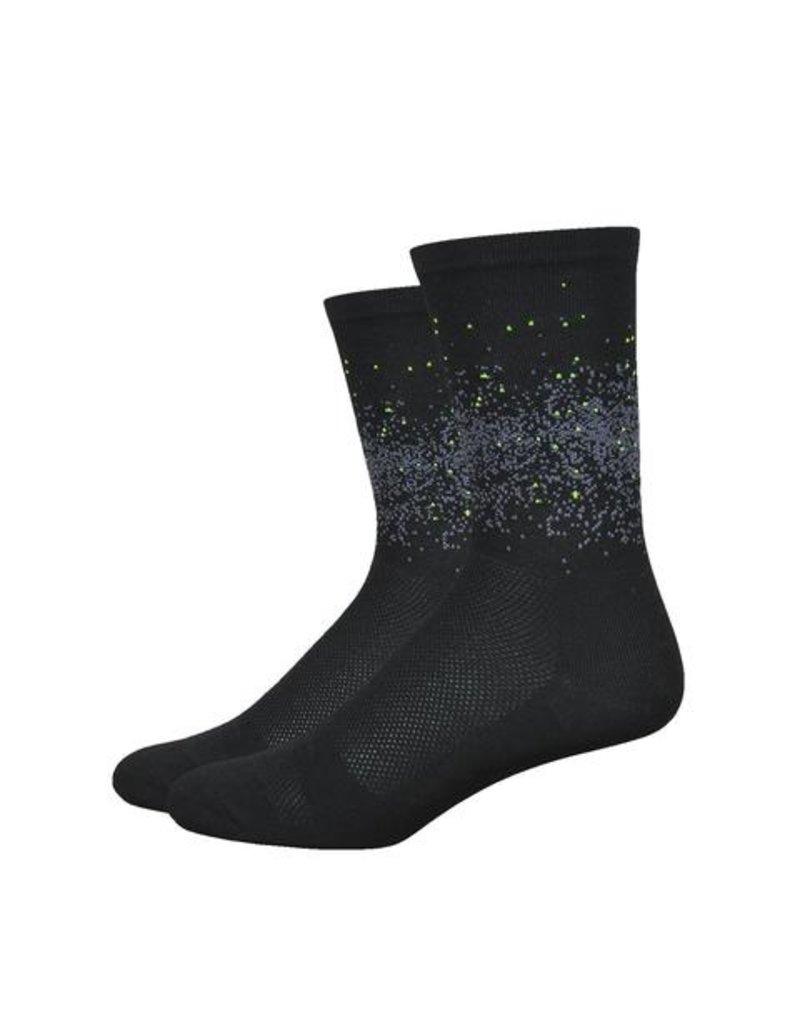 DeFeet DeFeet Aireator Barnstormer Firefly Socks - 6 inch, Black, X-Large