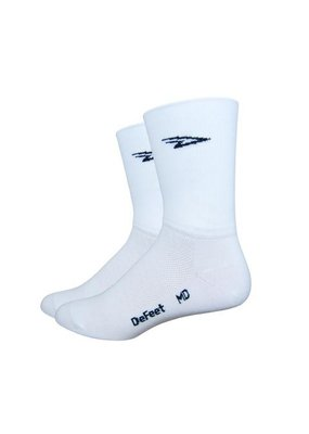 DeFeet DeFeet Aireator D-Logo Socks - 5 inch, White, X-Large