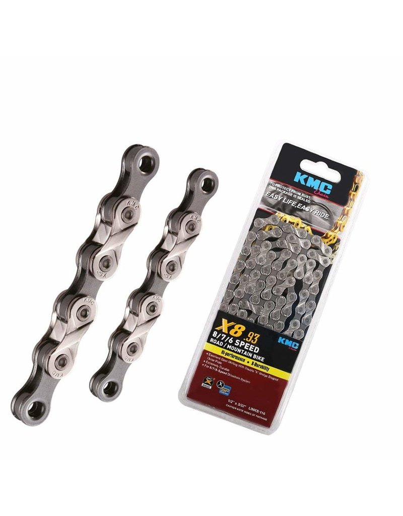 KMC  X8.93, 6,7,8 Speed Chain for Trekking 116 Links with Master Link