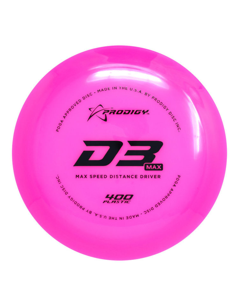 Prodigy Disc Golf Prodigy D3 Max 400 Max Speed Distance Driver Golf Disc