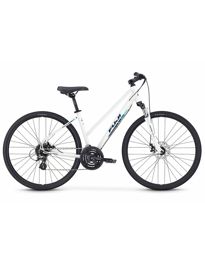 Fuji Fuji Traverse 1.5 ST Cross Terrain Hybrid Bicycle Pearl White 15 inch