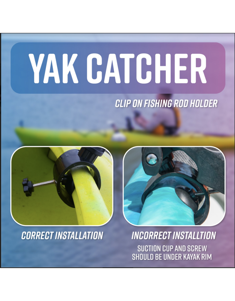 Cascade Creek YakCatcher Clip-On Fishing Rod Holder