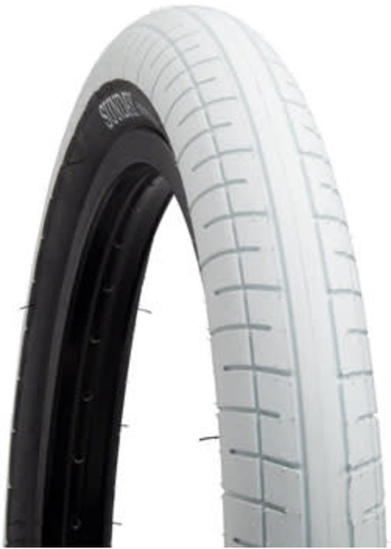 Sunday Sunday Street Sweeper BMX BICYCLE Tire - 20 x 2.4 Clincher Wire White/Black