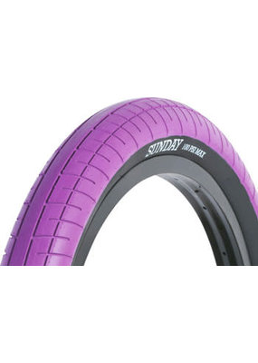 Sunday Sunday Seeley Street Sweeper BMX Bicycle Tire 20 x 2.4 Purple with Black Sidewall