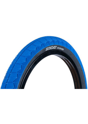 Sunday Sunday Current V2 BMX Bicycle Tire - 20 x 2.4, Clincher, Wire, Blue/Black