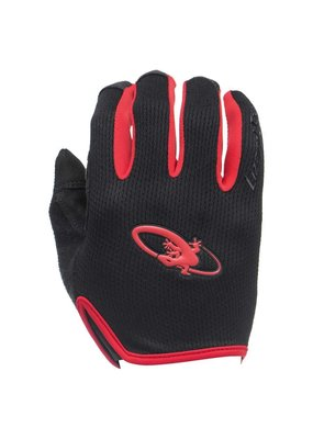 LIZARD SKINS Lizard Skins Monitor Bicycle Gloves Long Fingers Jet Black/Crimson  XL