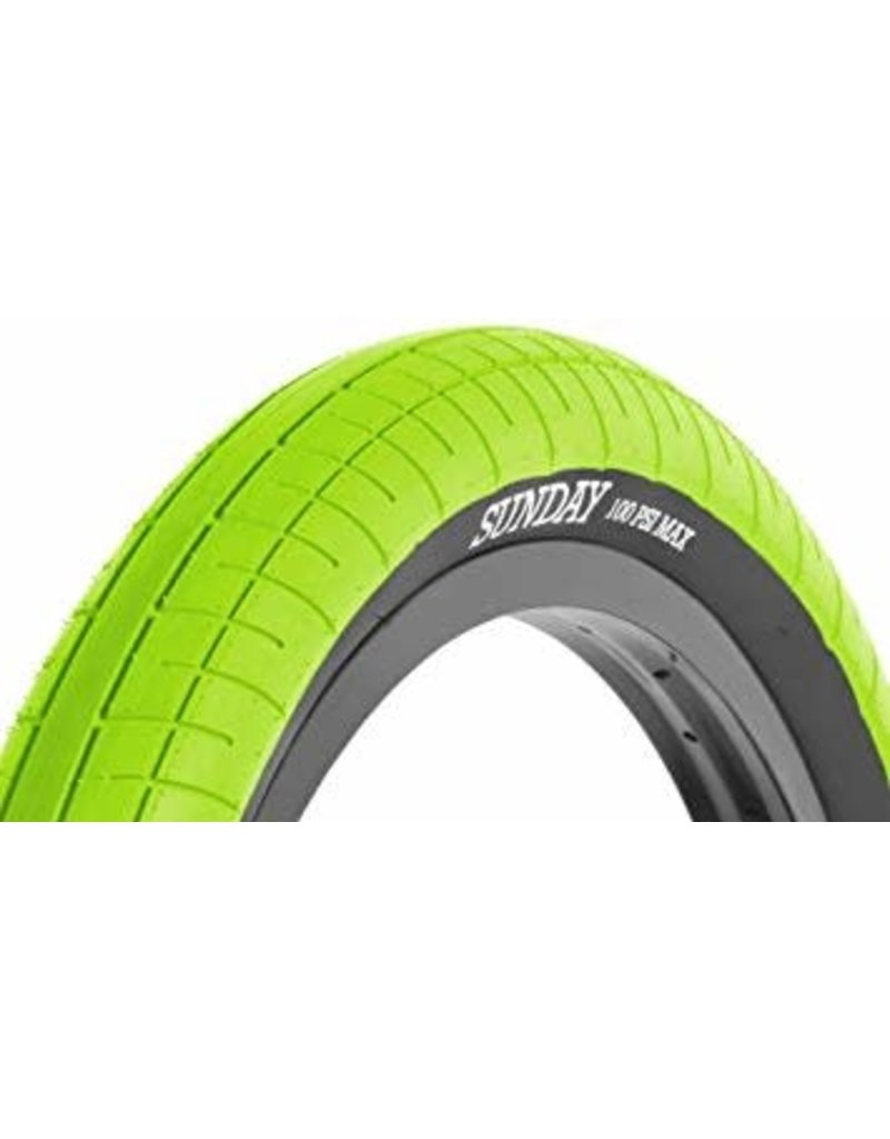 Sunday Sunday Seeley Street Sweeper Tire 20 x 2.4 Green with Black Sidewall
