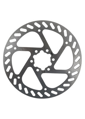 SUNLITE BRAKE PART SUNLITE BICYCLE DISC ROTOR 160mm 6b w/BOLTS