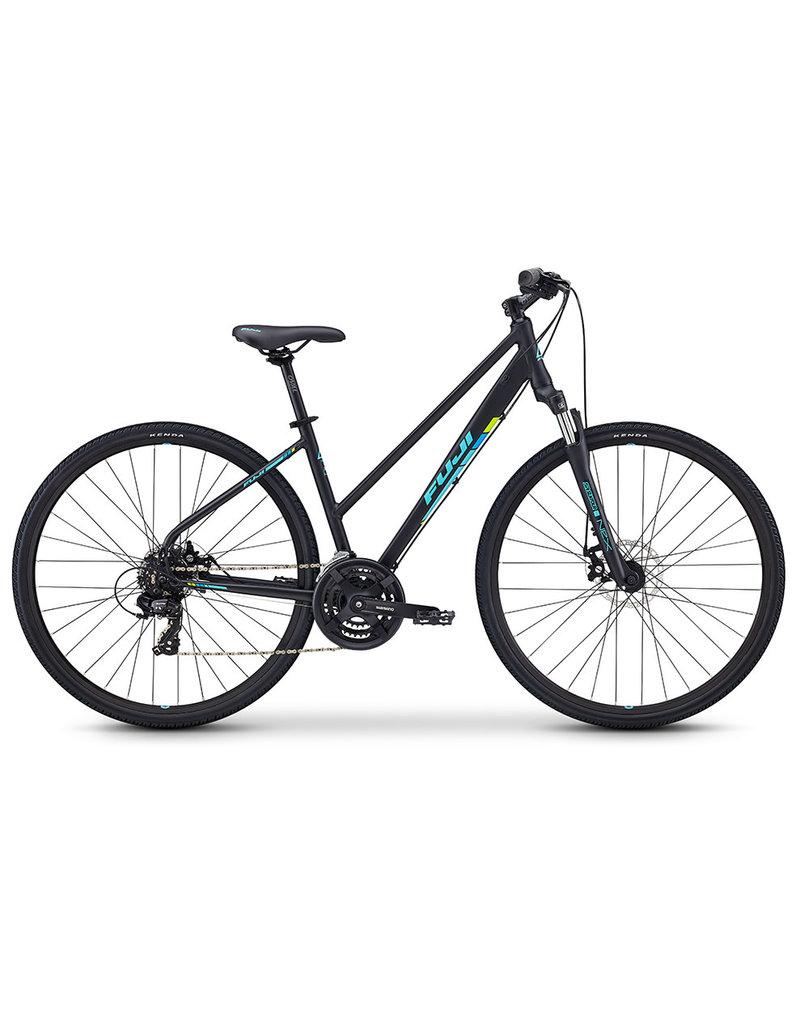 Fuji Fuji Traverse 1.7 Cross Terrain Hybrid Bicycle Step Through Frame 17inch Satin Black
