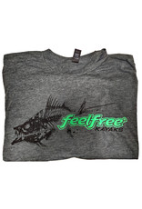 Feelfree Feel Free Bonefish Logo T-Shirt Mens Charcoal