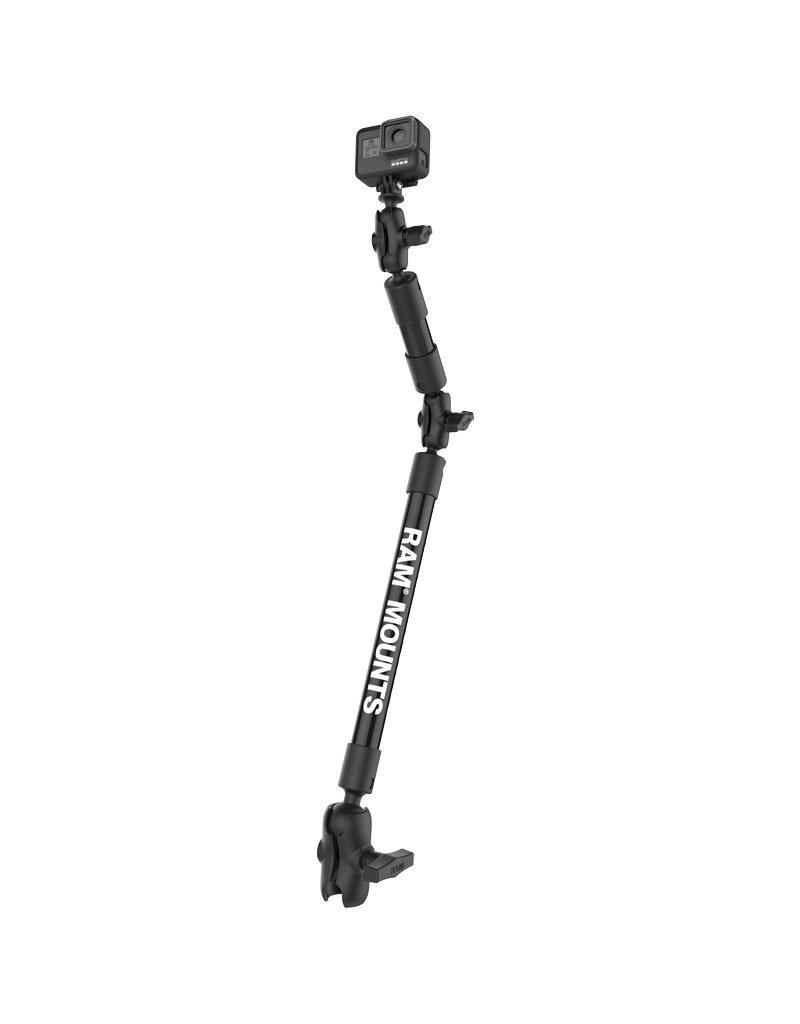 RAM MOUNTS RAM MOUNTS Tough Pole 21 inch Socket Arm with Universal Camera and Go Pro Mount