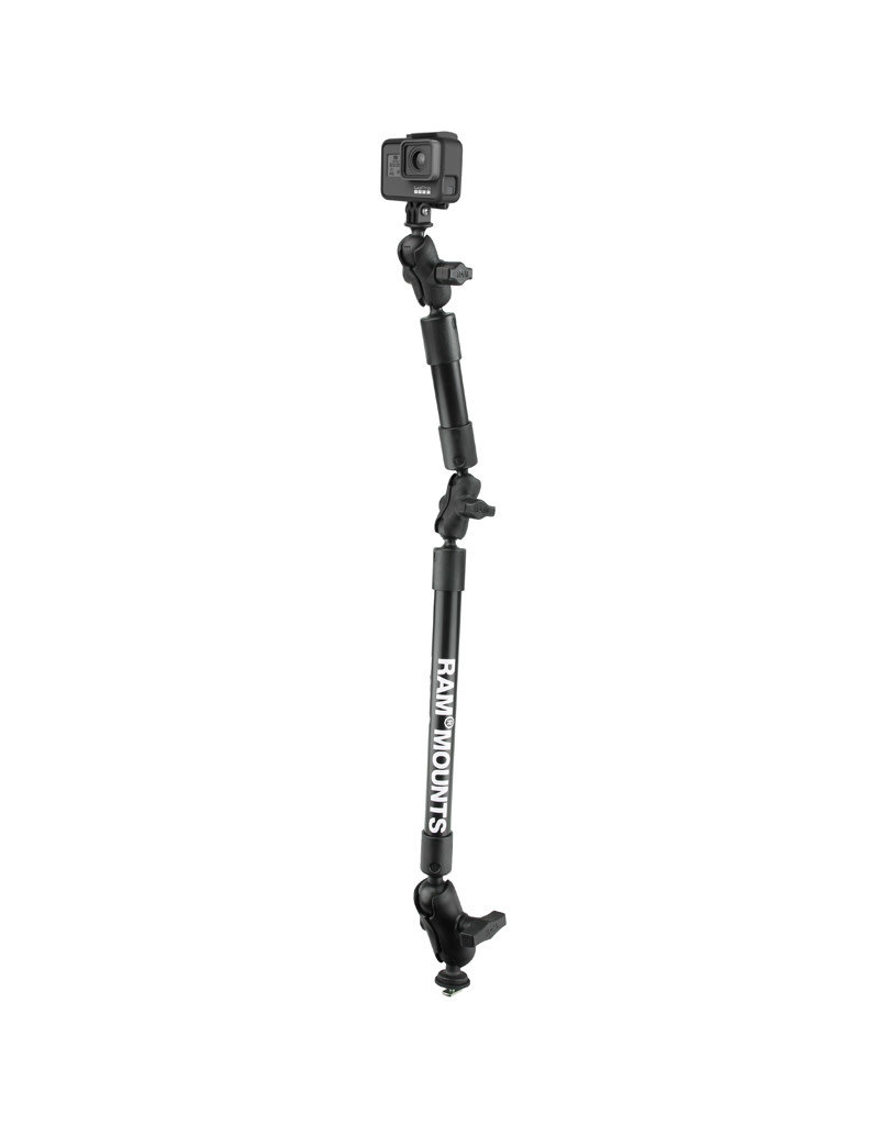 RAM MOUNTS RAM MOUNTS Tough Pole 31 inch Camera Go Pro Mount with Kayak Gear Track Mount Base