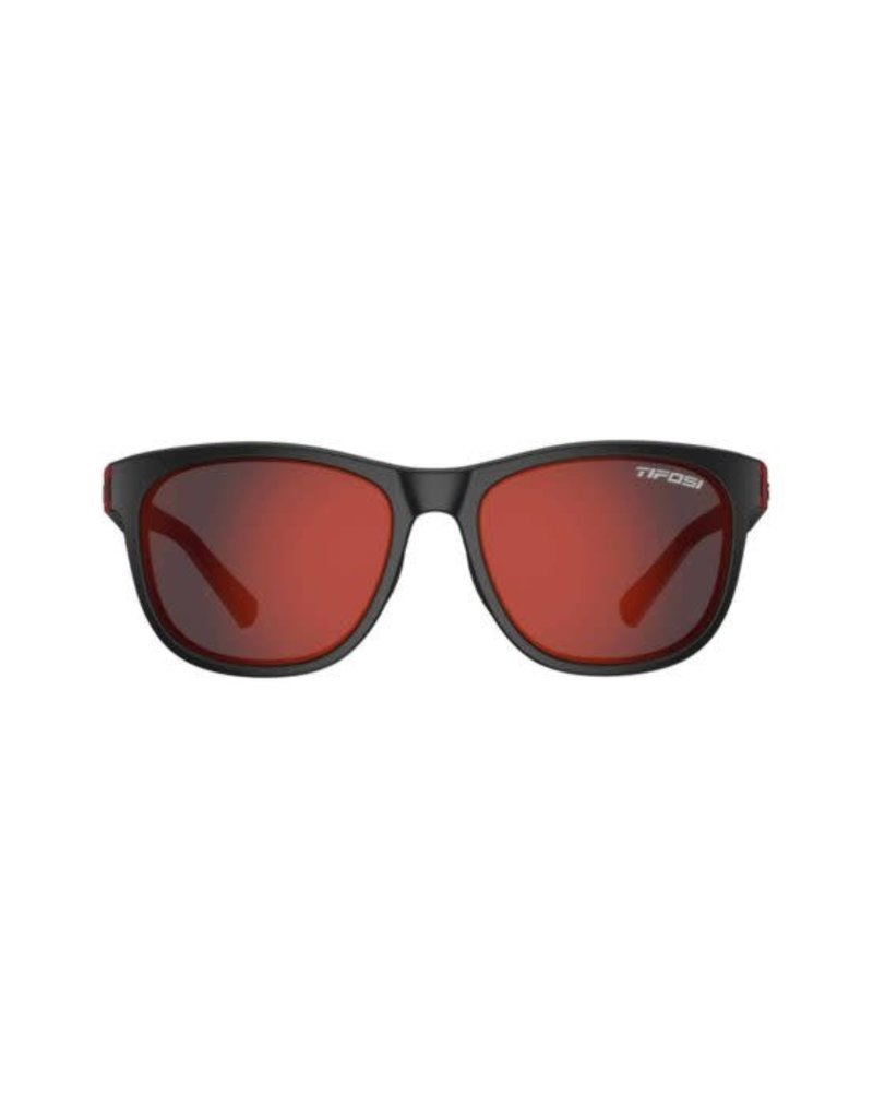 TIFOSI OPTICS Tifosi Swank Sunglasses, Crimson/Onyx Single Lens