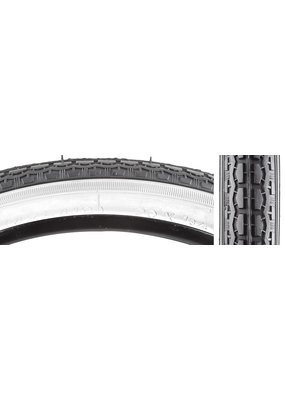SUNLITE SUNLITE BICYCLE TIRE 20x1-3/4 S7 BLACK/WHITE STREET K126 WORKS FOR SCHWINN
