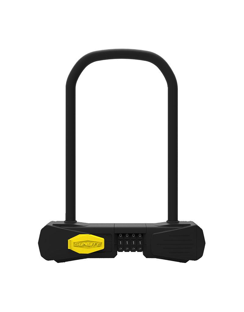 SUNLITE Sunlite Defender Bicycle U-Lock Combo Standard 4.5x9
