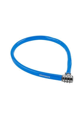 Kryptonite Kryptonite Keeper 665 Combination Cable Bicycle Lock 25.5inx6mm Blue