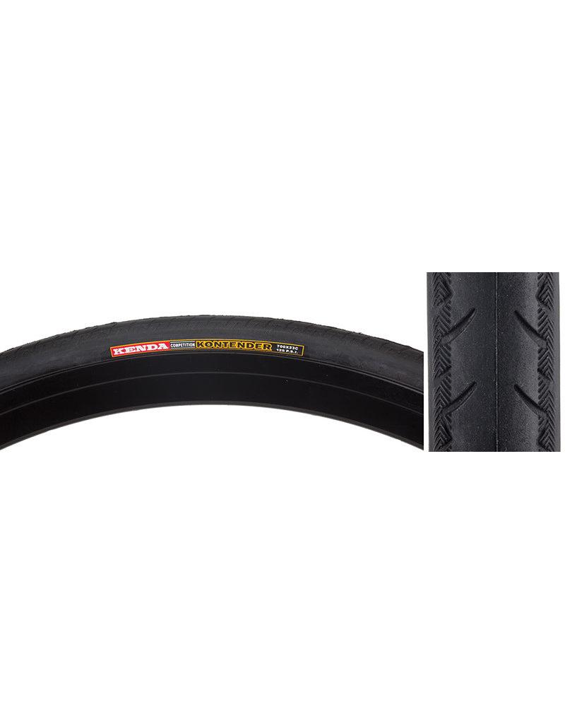 SUNLITE Bicycle TIRES Kenda Kontender 700x23 BK/BSK RD 100lb K196